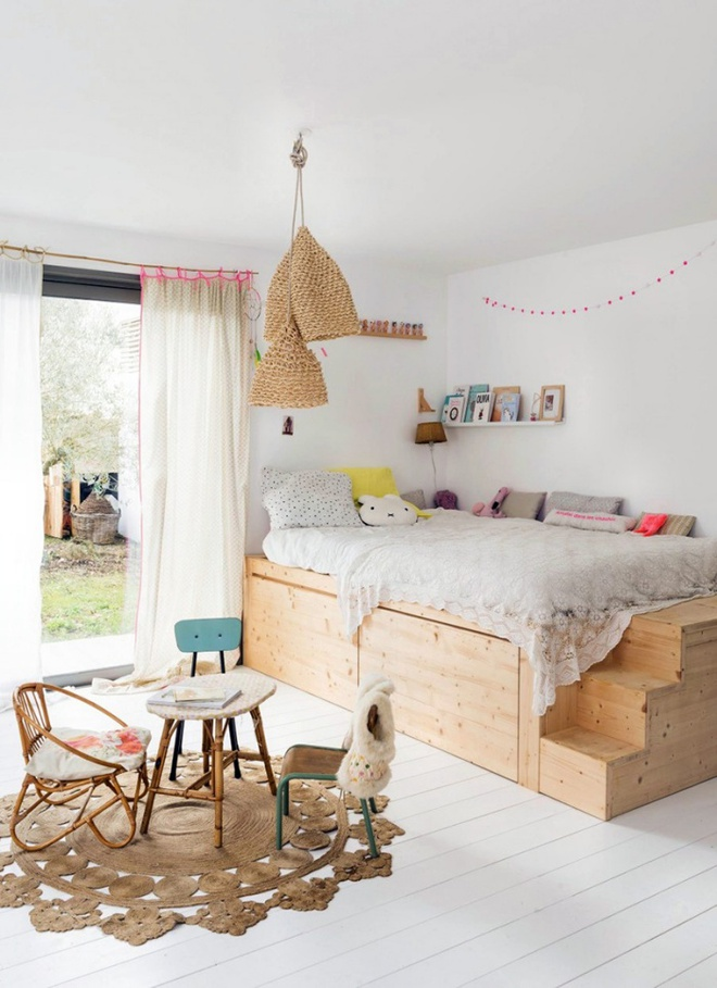 Thiết kế giường giật cấp giúp phòng ngủ nhỏ vừa rộng hơn lại vừa đẹp miễn chê - Ảnh 12.
