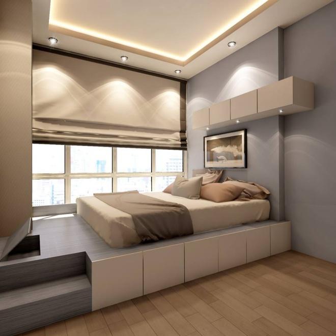 Thiết kế giường giật cấp giúp phòng ngủ nhỏ vừa rộng hơn lại vừa đẹp miễn chê - Ảnh 13.