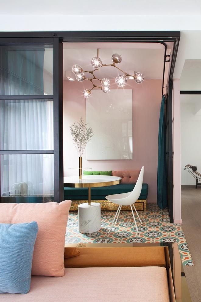 Lâu lắm rồi mới lại thấy một căn hộ sử dụng gam màu hồng pastel khéo léo và đẹp mắt đến thế - Ảnh 3.