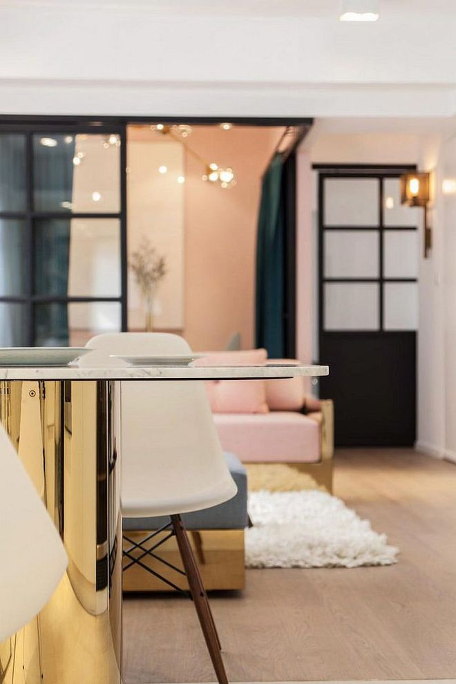 Lâu lắm rồi mới lại thấy một căn hộ sử dụng gam màu hồng pastel khéo léo và đẹp mắt đến thế - Ảnh 7.