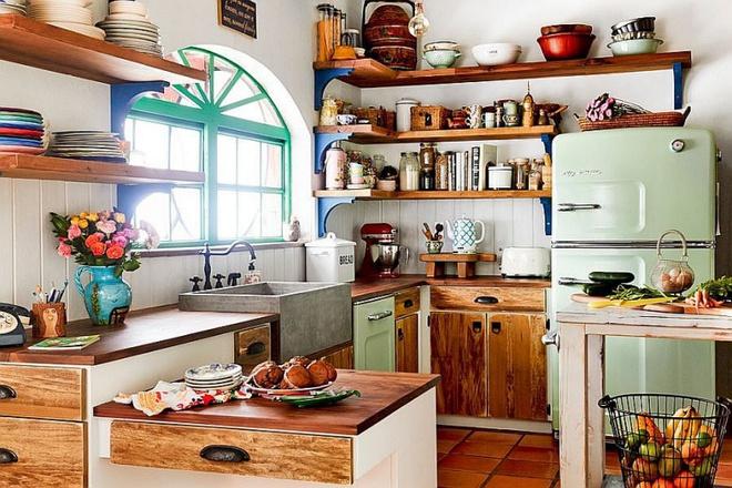 Những căn bếp đẹp hút hồn với kệ gỗ tự nhiên phong cách Rustic - Ảnh 4.
