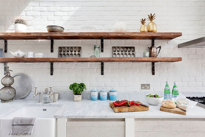 Những căn bếp đẹp hút hồn với kệ gỗ tự nhiên phong cách Rustic - Ảnh 5.