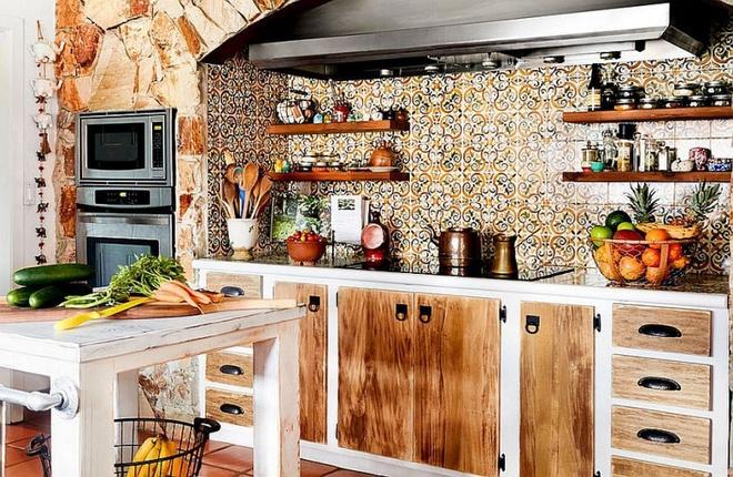 Những căn bếp đẹp hút hồn với kệ gỗ tự nhiên phong cách Rustic - Ảnh 7.