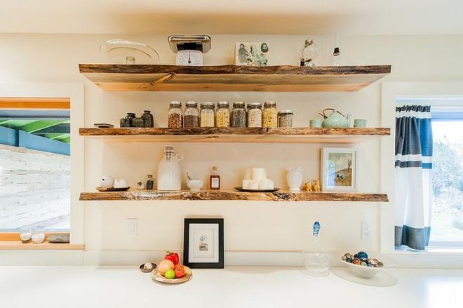 Những căn bếp đẹp hút hồn với kệ gỗ tự nhiên phong cách Rustic - Ảnh 9.