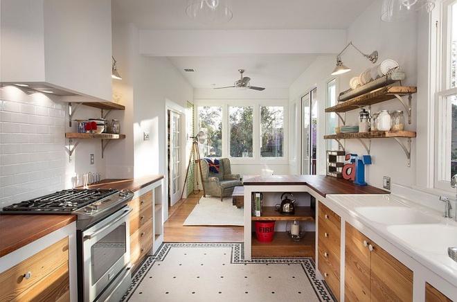 Những căn bếp đẹp hút hồn với kệ gỗ tự nhiên phong cách Rustic - Ảnh 11.