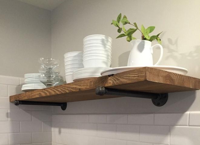 Những căn bếp đẹp hút hồn với kệ gỗ tự nhiên phong cách Rustic - Ảnh 14.