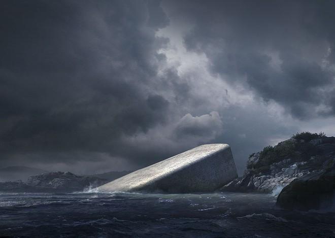 Cứ ngỡ tảng đá khổng lồ nổi trên mặt nước, tới gần ai cũng phải thốt lên kinh ngạc - Ảnh 1.
