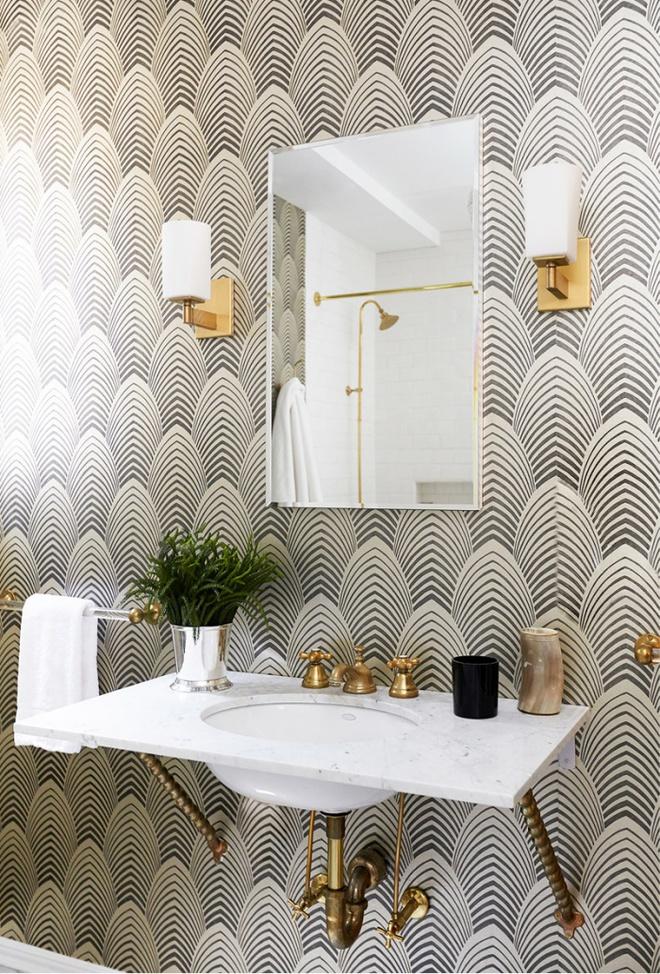 Phòng tắm nhỏ đẹp ấn tượng với 3 kiểu trang trí theo phong cách Art Deco - Ảnh 1.