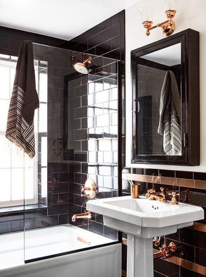 Phòng tắm nhỏ đẹp ấn tượng với 3 kiểu trang trí theo phong cách Art Deco - Ảnh 2.