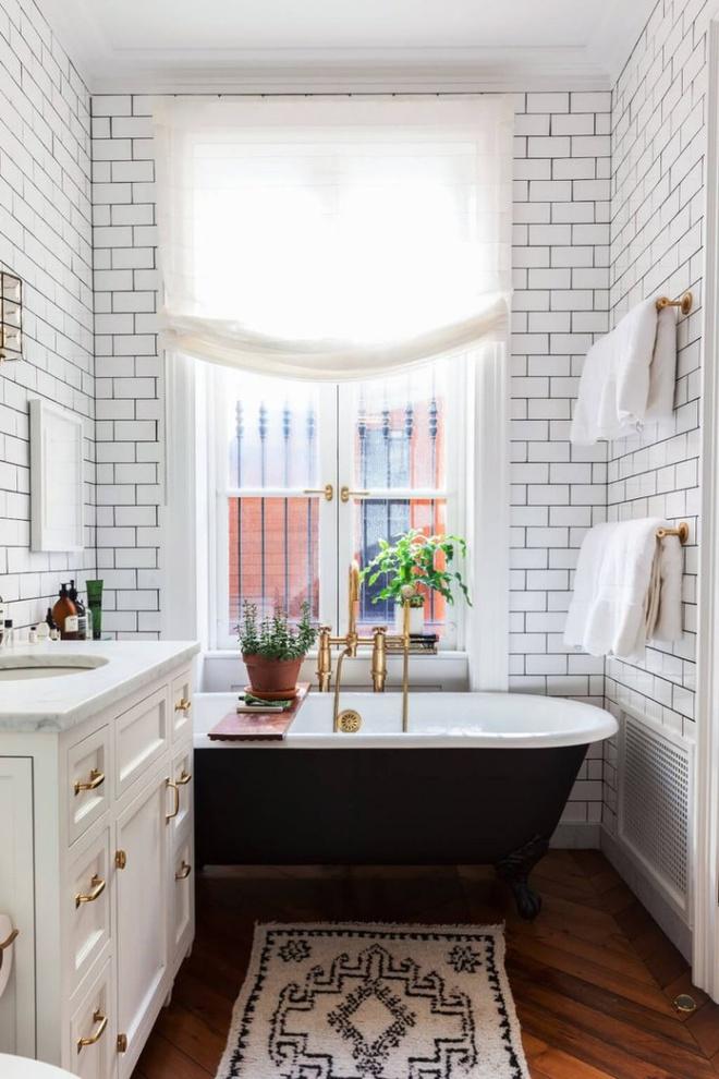 Phòng tắm nhỏ đẹp ấn tượng với 3 kiểu trang trí theo phong cách Art Deco - Ảnh 3.