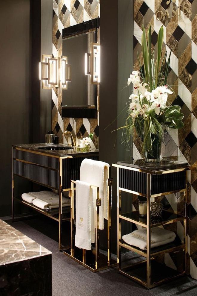 Phòng tắm nhỏ đẹp ấn tượng với 3 kiểu trang trí theo phong cách Art Deco - Ảnh 4.