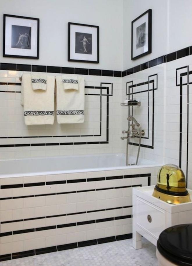 Phòng tắm nhỏ đẹp ấn tượng với 3 kiểu trang trí theo phong cách Art Deco - Ảnh 5.