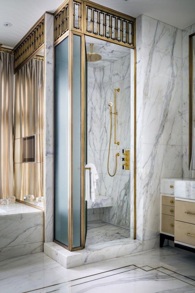 Phòng tắm nhỏ đẹp ấn tượng với 3 kiểu trang trí theo phong cách Art Deco - Ảnh 6.