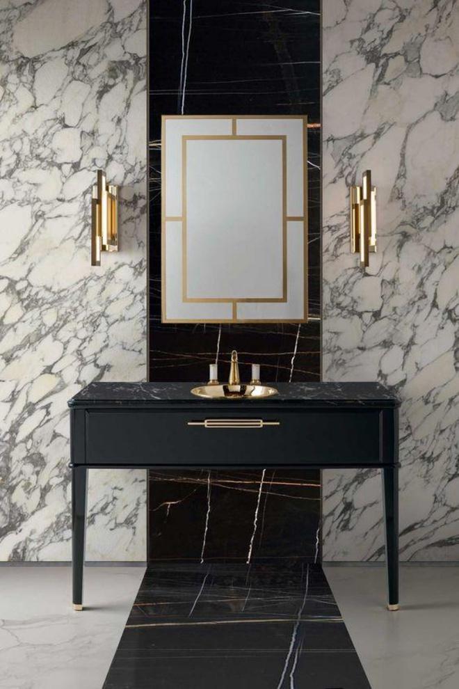 Phòng tắm nhỏ đẹp ấn tượng với 3 kiểu trang trí theo phong cách Art Deco - Ảnh 7.