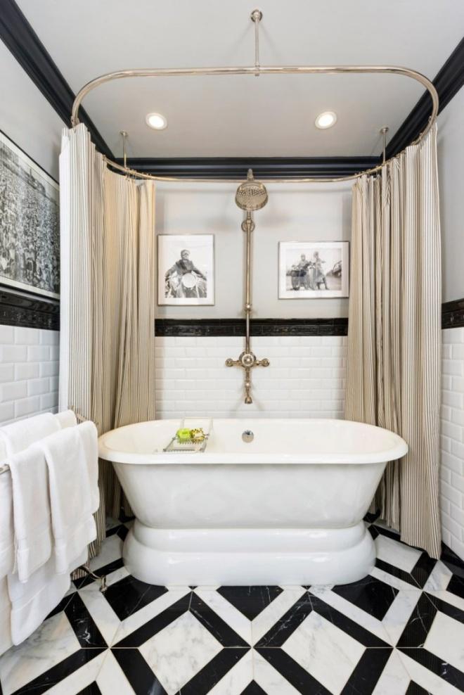Phòng tắm nhỏ đẹp ấn tượng với 3 kiểu trang trí theo phong cách Art Deco - Ảnh 8.