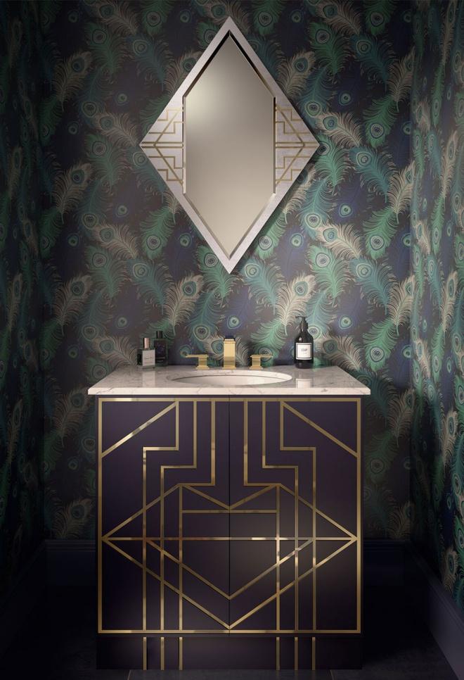 Phòng tắm nhỏ đẹp ấn tượng với 3 kiểu trang trí theo phong cách Art Deco - Ảnh 10.