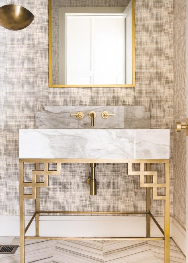 Phòng tắm nhỏ đẹp ấn tượng với 3 kiểu trang trí theo phong cách Art Deco - Ảnh 11.