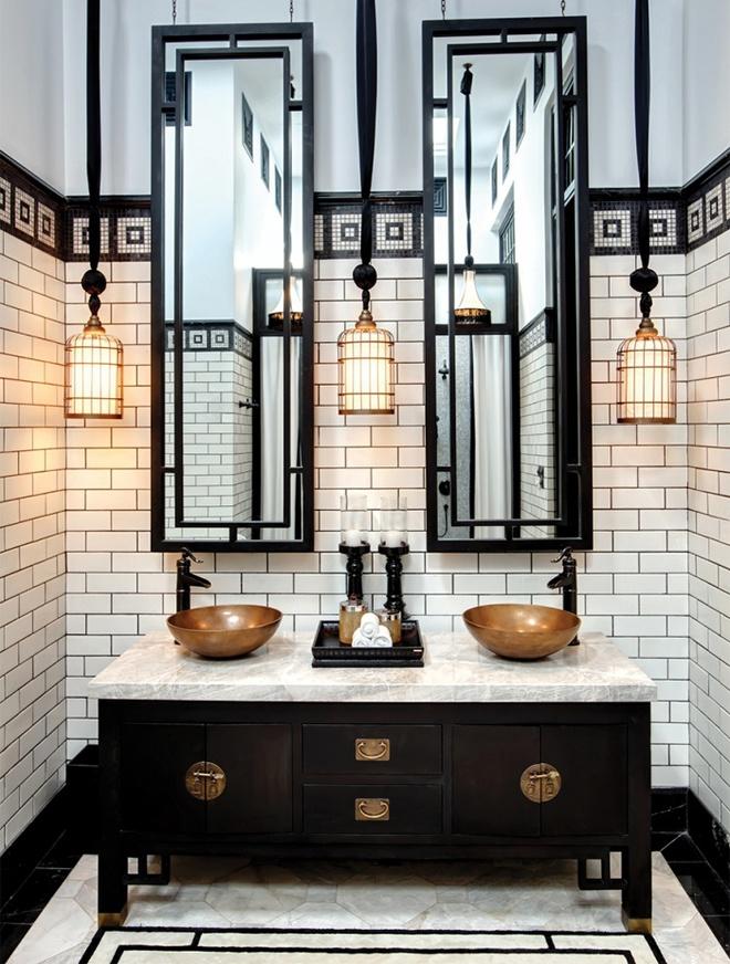 Phòng tắm nhỏ đẹp ấn tượng với 3 kiểu trang trí theo phong cách Art Deco - Ảnh 12.