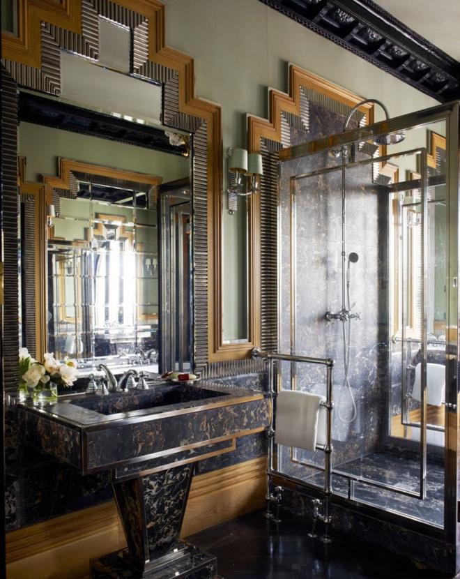 Phòng tắm nhỏ đẹp ấn tượng với 3 kiểu trang trí theo phong cách Art Deco - Ảnh 14.