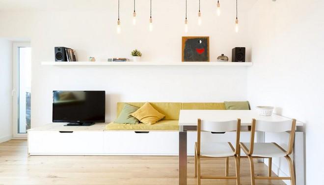 Căn hộ nhỏ trang trí theo phong cách tối giản đẹp hút mắt nhờ điểm nhấn màu sắc tinh tế - Ảnh 1.