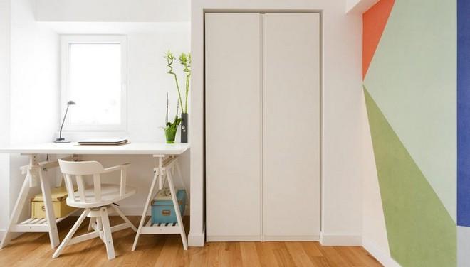 Căn hộ nhỏ trang trí theo phong cách tối giản đẹp hút mắt nhờ điểm nhấn màu sắc tinh tế - Ảnh 7.