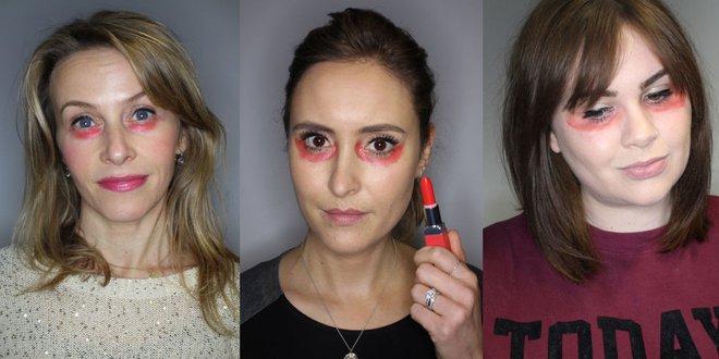 Bôi đỏ như bị đánh thế này mới là cách hay nhất để các chị em che giấu quầng thâm mắt - Ảnh 4.