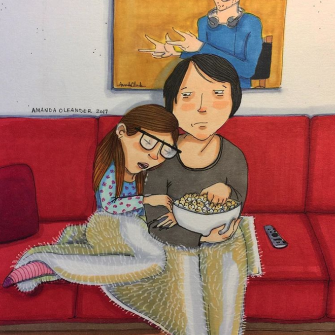 Bộ tranh minh họa hạnh phúc giản dị giấu sau cánh cửa của những cặp đôi đang yêu - Ảnh 7.