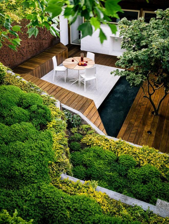 Sau cải tạo, sân vườn kiểu ruộng bậc thang này khiến ai cũng tròn mắt ngưỡng mộ - Ảnh 12.