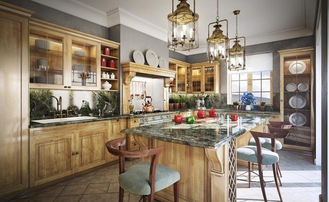 10 ý tưởng phòng bếp truyền thống sang trọng nhưng vô cùng ấm cúng - Ảnh 13.