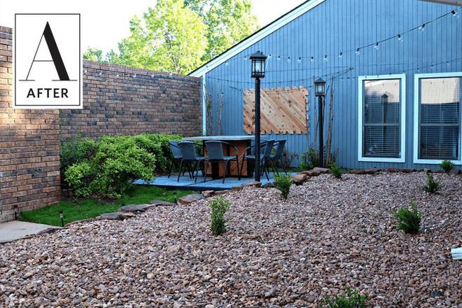 Sân vườn đầy gạch đá vụn và cây mục nát trở nên đẹp lung linh sau cải tạo - Ảnh 6.