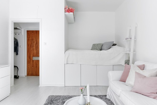 Chỉ 28m² nhưng căn hộ màu trắng này vừa đẹp không tì vết vừa đủ đầy đến hiếm có khó tìm - Ảnh 9.