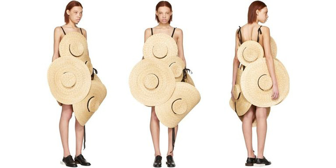 Chỉ ai thừa tiền mới bỏ ra 69 triệu đồng để mua chiếc váy được kết từ mũ cói! - Ảnh 1.
