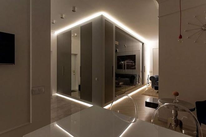 Phòng ngủ độc đáo nhờ sử dụng ánh sáng trong căn hộ 50m2 - Ảnh 3.