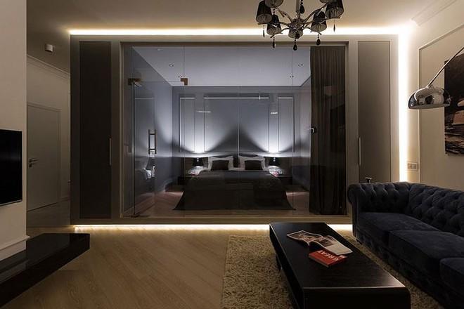 Phòng ngủ độc đáo nhờ sử dụng ánh sáng trong căn hộ 50m2 - Ảnh 4.