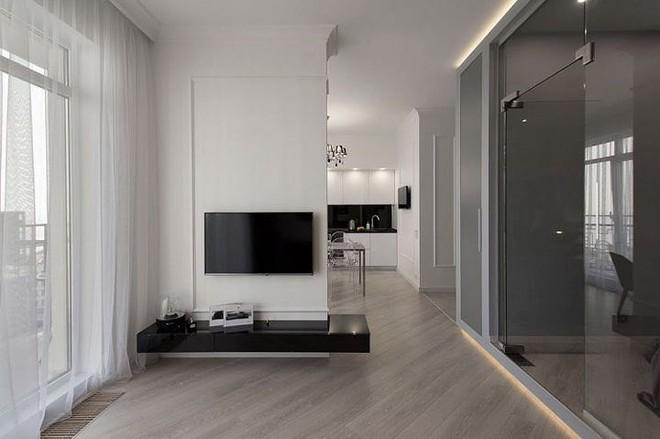Phòng ngủ độc đáo nhờ sử dụng ánh sáng trong căn hộ 50m2 - Ảnh 6.