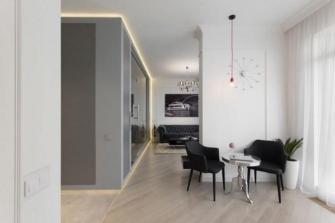 Phòng ngủ độc đáo nhờ sử dụng ánh sáng trong căn hộ 50m2 - Ảnh 8.