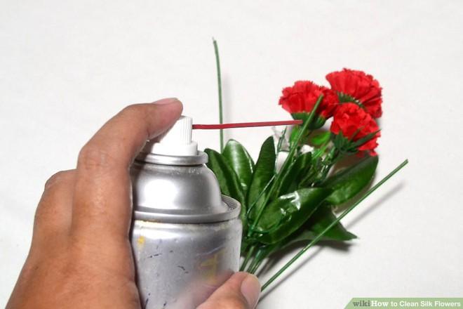 Làm sạch hoa bằng khí nén