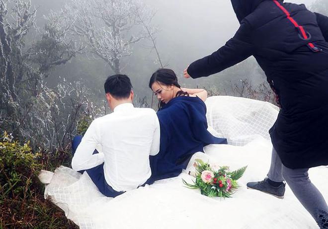 Để đẹp thì bất chấp: Cô dâu vai trần, chú rể gồng mình dưới trời băng tuyết để có bộ ảnh cưới nghìn like - Ảnh 5.