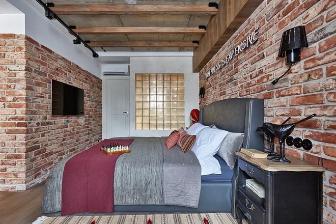 Độc đáo căn hộ 69 m2 với bức tường gạch thô, đầy màu sắc ấm áp - Ảnh 11.