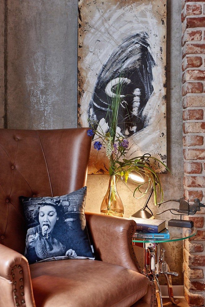 Độc đáo căn hộ 69 m2 với bức tường gạch thô, đầy màu sắc ấm áp - Ảnh 8.