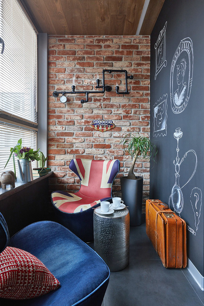 Độc đáo căn hộ 69 m2 với bức tường gạch thô, đầy màu sắc ấm áp - Ảnh 12.