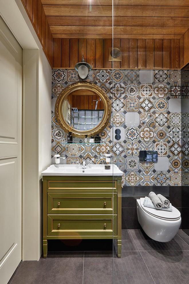 Độc đáo căn hộ 69 m2 với bức tường gạch thô, đầy màu sắc ấm áp - Ảnh 13.
