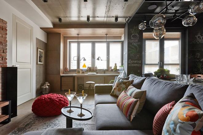 Độc đáo căn hộ 69 m2 với bức tường gạch thô, đầy màu sắc ấm áp - Ảnh 15.