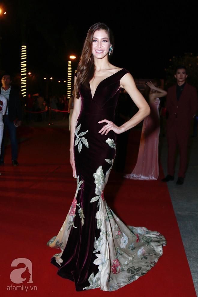 Hoa hậu Hoàn vũ 2008 Dayana Mendoza khoe vẻ đẹp tuyệt sắc, Mai Phương Thúy lộng lẫy như công chúa trên thảm đỏ chung kết Hoa hậu Hoàn vũ Việt Nam - Ảnh 1.