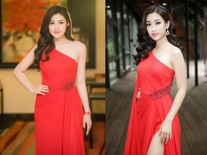 Cùng diện váy đỏ gợi cảm, Dương Tú Anh đẹp trong trẻo trong khi Đỗ Mỹ Linh lại lộng lẫy gợi cảm - Ảnh 10.