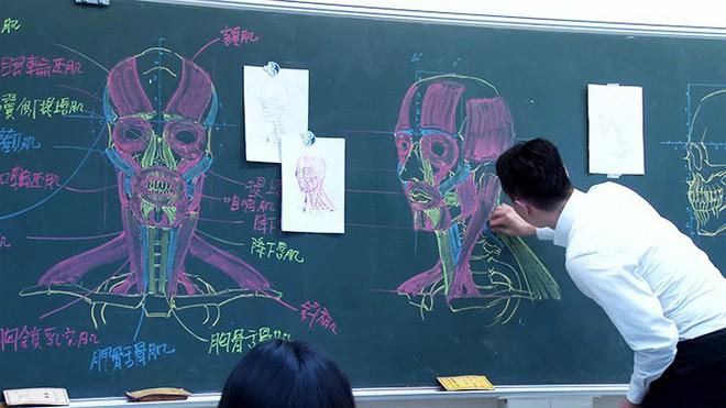 Thầy giáo nhà người ta: Vừa điển trai lại vẽ hình minh họa cực đẹp khiến học sinh mê mẩn - Ảnh 10.