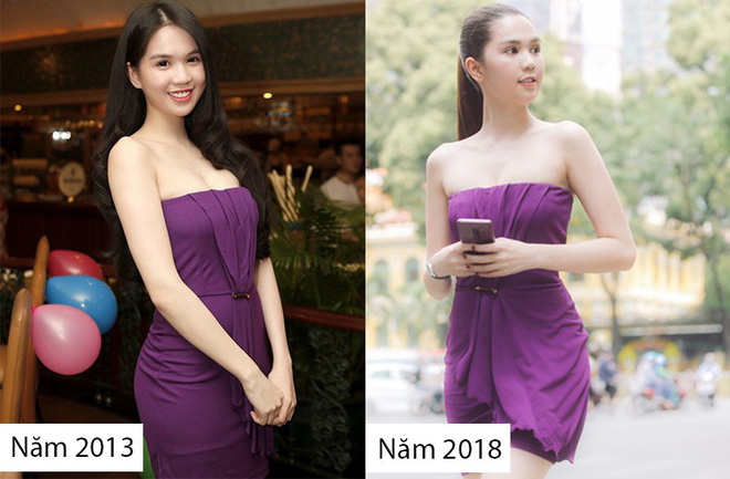 Cả kho đồ hiệu nhưng lại chọn mặc chiếc váy tím lịm của 5 năm trước, Ngọc Trinh bị chê sến và lạc điệu - Ảnh 7.