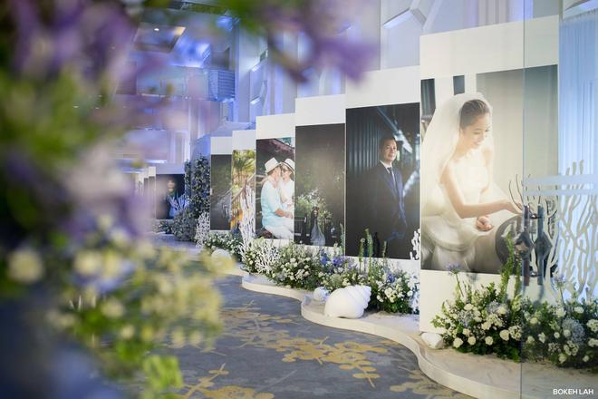 Cận cảnh đám cưới kỳ công xanh màu đại dương của Shark Hưng (Thương vụ bạc tỷ) và cô dâu Á hậu - Ảnh 7.