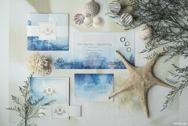 Cận cảnh đám cưới kỳ công xanh màu đại dương của Shark Hưng (Thương vụ bạc tỷ) và cô dâu Á hậu - Ảnh 3.