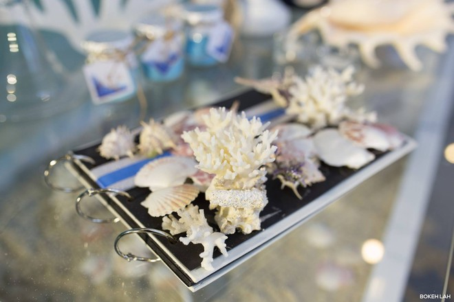Cận cảnh đám cưới kỳ công xanh màu đại dương của Shark Hưng (Thương vụ bạc tỷ) và cô dâu Á hậu - Ảnh 28.